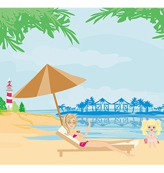 vacation in the tropics vector image