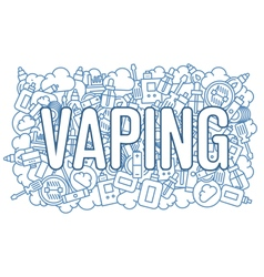 Web line vaping image trend vector