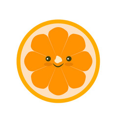 yellow orange fruit icon isolated vector image