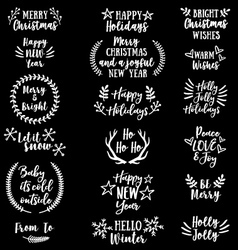 Christmas and New Year set vector image