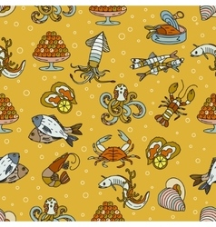 Marine life seamless pattern vector
