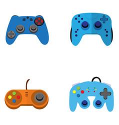 set of joysticks vector image