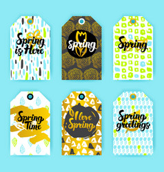 Spring trendy hipster gift labels vector