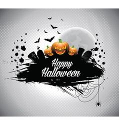 on a Halloween theme vector image
