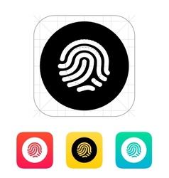 Thumbprint scanner icon vector