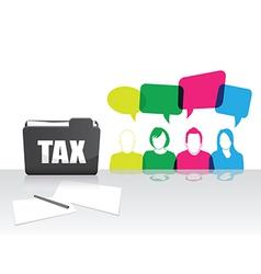 people tax folder vector image