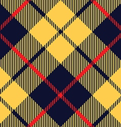 Blue orange tartan fabric texture diagonal pattern vector