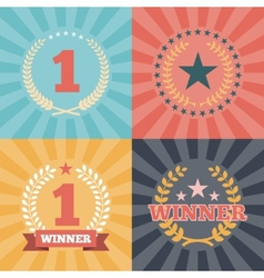 Laurel wreaths awards vector