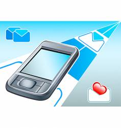 Pda  email device vector