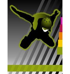 Parachuting concept poster vector