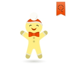 Gingerbread man colorful vector