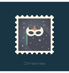 Christmas festive mask flat stamp vector