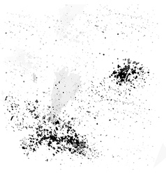 Black ink droplets on a white background vector image