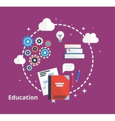 Education concept -  flat vector