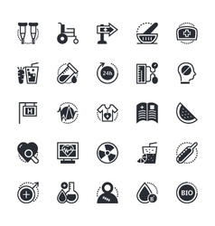 Medical and health icons 4 vector