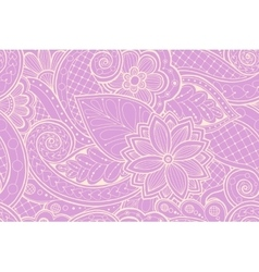 Seamless pattern with flowers and butterfly vector image