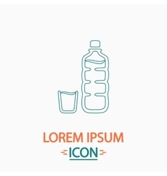 Plastic bottle computer symbol vector
