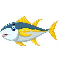 Cute tuna fish cartoon vector