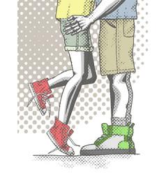 a hand drawn half bottom teen vector image