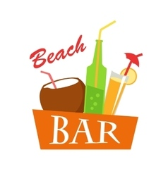 Beach Bar Concept Summer Drinks vector image