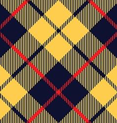 blue orange tartan fabric texture diagonal pattern vector image