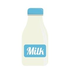 bottle milk glass isolated vector image