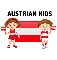 boy and girl from austria vector image vector image