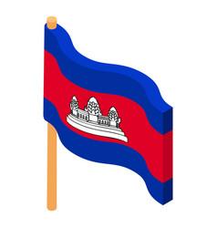 cambodia flag icon isometric style vector image