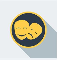 cinema mask icon vector image vector image