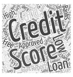 Credit free score word cloud concept vector