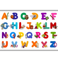 educational alphabet set for kids vector image