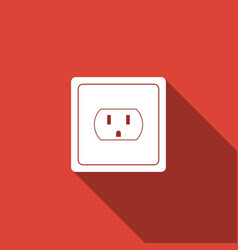Electrical outlet in the usa icon power socket vector