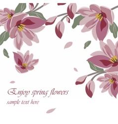 Flower blossom spring magnolia vector