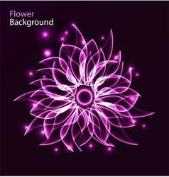 Glowing flower abstract background vector image vector image