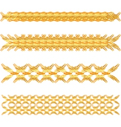 Gold floral border vector