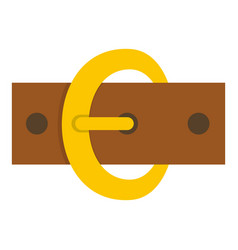 Gold oval buckle icon isolated vector