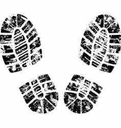 grunge footprint vector image