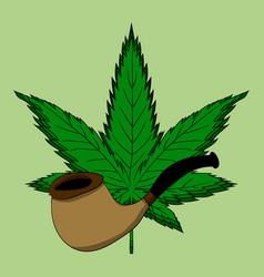 Hemp leaf dependence on marijuana vector