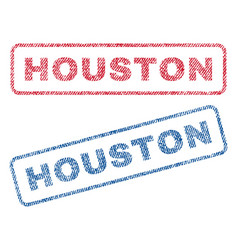 Houston textile stamps vector