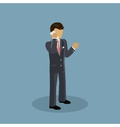 Isometric businessman speaking on phone vector