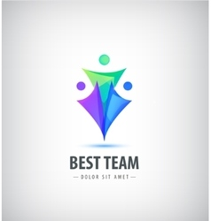 logo design template Concept for family vector image