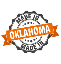 Made in oklahoma round seal vector