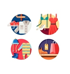 Man woman and childrens clothing vector