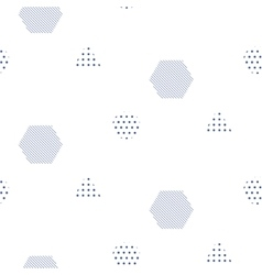 Memphis style seamless pattern with vector image vector image