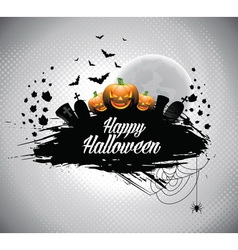 on a Halloween theme vector image