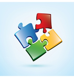 puzzle pieces icon vector image