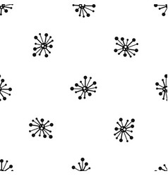 round bacteria pattern seamless black vector image vector image