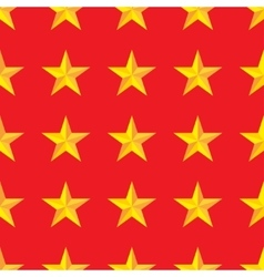 Seamless yellow stars background in vector