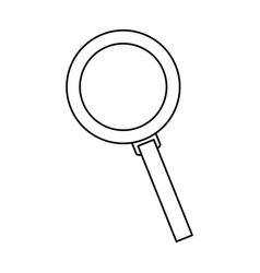 Search magnifier zoom glass line vector