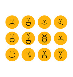 Set of emoticons emoji of punctuation characters vector